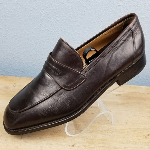 classic shoes cheap for sale quality Bally Men's Brown Dress Shoes 8.5 EEE